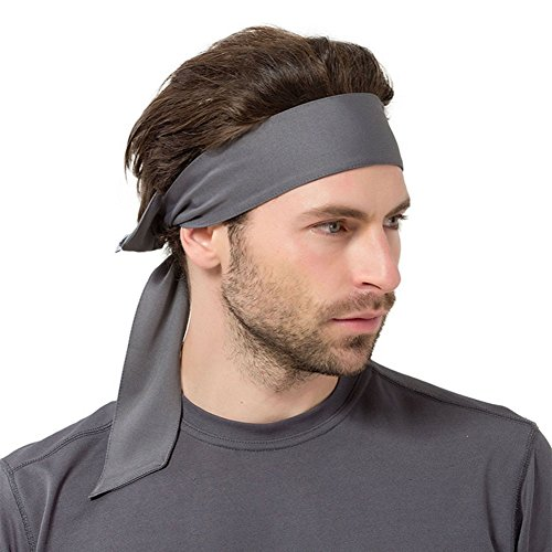 nd Haare Schweißband Knoten Design Schnelltrocknend Atmungsaktiv Running Tennis Fahrrad Headband (grau) (Hummel Stirnband)