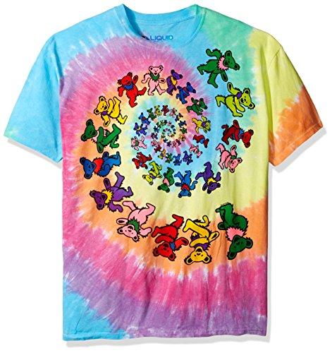 Liquid Blue Men's Grateful Dead Spiral Bears T-Shirt