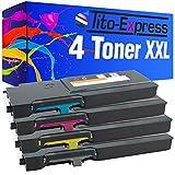 Tito-Express PlatinumSerie 4 Toner XXL kompatibel mit Dell C2660 C2660DN C2665DNF   593-BBBU 593-BBBT 593-BBBS 593-BBBR   Black 6.000 Seiten, Color je 4.000 Seiten
