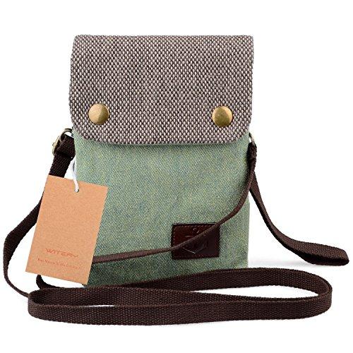 WITERY , Damen Umhängetasche Pastellgrün (Candy Green) (Black Roxy Wallet)