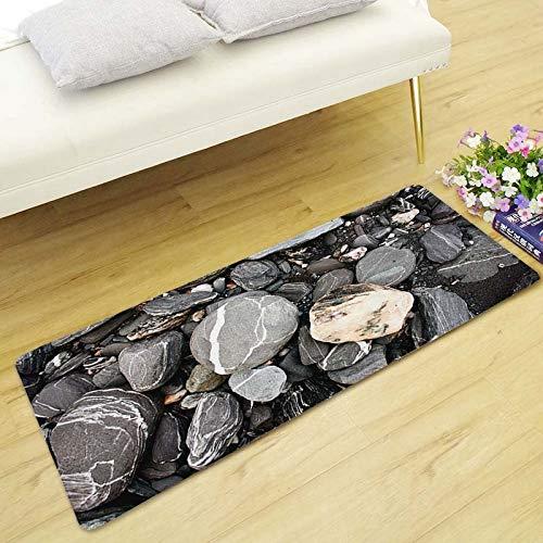 HXZDP 40x120cm 3D Kopfsteinpflaster Lange Fußmatten Fußmatten rutschfeste Sofa Teppiche Für Wohnzimmer Küche Schlafzimmer Teppiche (Kopfsteinpflaster Bad-teppiche)