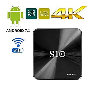 [Android 7.1 OS Smart BOX] Linstar R-TV BOX S10 Wifi TV BOX,Amlogic S912 Octa Cora 3GB RAM 32GB ROM HD TV Bluetooth 4.1 Android TV BOX for 4K