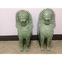 Coppia guardiani Cani Fu (leone cinese) in