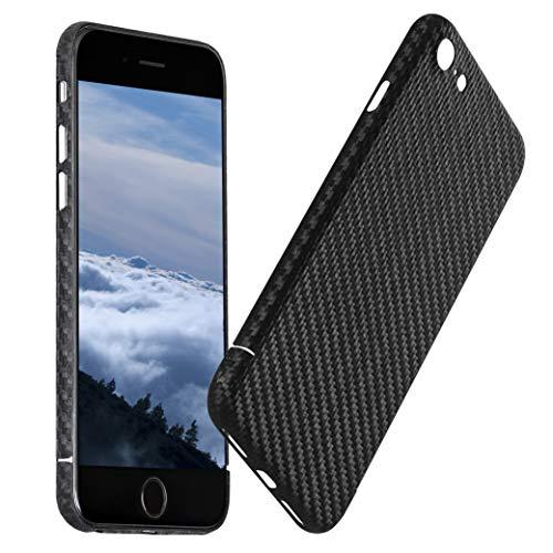 VIVERSIS iPhone 7 Hülle aus echtem Carbon, ultradünn- & leicht, robust, schwarz, magnetisch, Premium Qualität