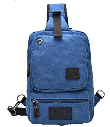 Odomolor Donna Viaggio Messenger-Style Tela Moda Borse a tracolla, Azzurro, Taglia Unica