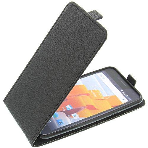 foto-kontor Tasche für Wileyfox Spark Spark Plus Smartphone Flipstyle Schutz Hülle schwarz