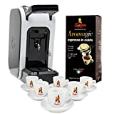 Coffee Pods Machine'Spinel Ciao' + 18pcs Coffee Pods + Coffee Cups Set Premium - Barbera Coffee