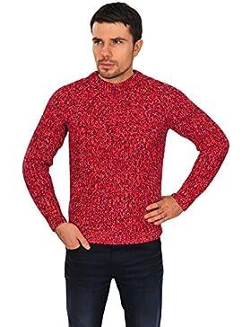 Incotex Suéter Hombre Rojo Negro,Blanco normal lana casual 48
