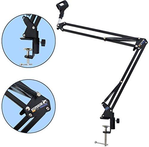 keepdrum-nb35-bras-de-micro-microphone-de-table-trepied-bras-pivotant-pour-montage-table