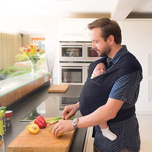Izmi Wrap, Made from Soft Bamboo, Ideal for Newborns, Slate  Izmi