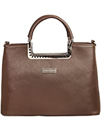 LB- Shoulder Bag For Women And Girls, Durable Spacious Designer Handbags With Multi Compartments Brown,LB-686