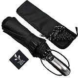 LCZ Regenschirm, Automatische 10-Rippe Stockschirm,Reise/Outdoor Regenschirm mit einhändiger Auf-Zu-Automatik, mit rutschfestem Griff einfach zu tragen, mit wasserabsorbierenderRegenschirm Taschen