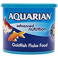 AQUARIAN Complete Nutrition, Aquarium Goldfish Food Flakes (Also Suitable for Small Pond Fish), 200 g Container