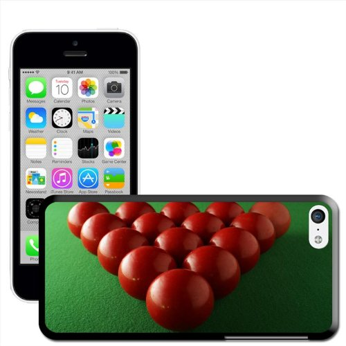 Fancy A Snuggle 'Eight Ball in Ecke, Pocket' Hard Case Clip On Back Cover für Apple iPhone 5C Snooker Balls Ready To Break