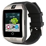 Kivors Q18 Bluetooth Smart Watch, Fitness Tracker Smart Armbanduhr mit Kamera SIM-Karte TF Karte Schrittzähler für Android und iOS