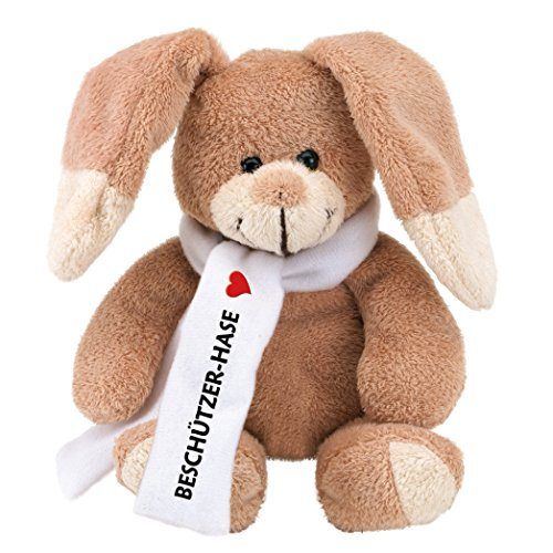 (Geschenke mit Namen Plüsch-Hase Pauli: Beschützer-Hase, plüschig weich, ca. 18 cm groß)