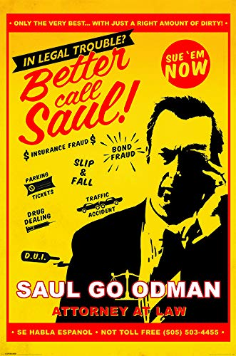 Better Call Saul Attorny At Law Poster Standard (Better Poster Call Saul)