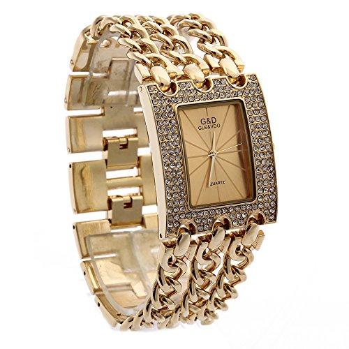 Sheli-Frauen-Gro-Modisch-Edelstahl-Gold-Armbanduhren-fr-Damen
