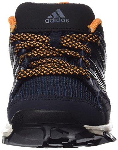 adidas Kanadia 7 Tr K, Chaussures de Running Mixte Bébé, Noir Bleu / noir / orange (bleu marine nuit / noir essentiel / orange équipement)