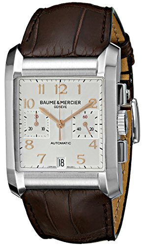 Baume Mercier–hombre 10029Hampton para hombre cronógrafo correa de piel color marrón reloj