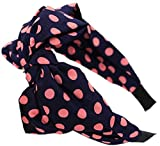 Demarkt Dots Muster Schleife Design Damen Mädchen Haarband Kopfband Spitze Haarreif (Hot Pink)