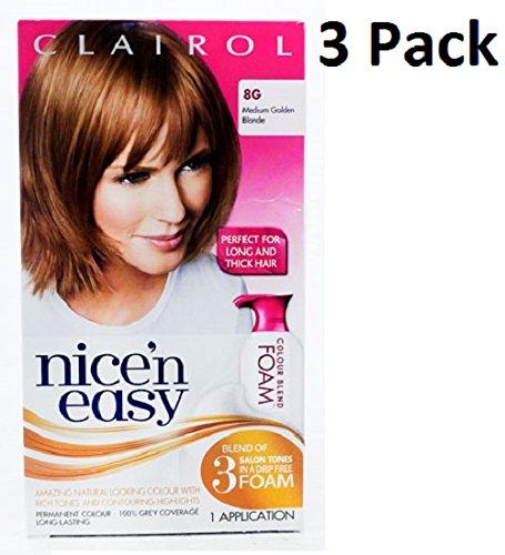 3 x clairol nice n easy mousse de coloration permanente pour cheveux 8 g - Coloration Non Permanente