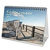 Küstenzauber Nord- und Ostsee · DIN A5 · Premium Tischkalender/Kalender 2019 · Küste · Freizeit · Urlaub · Nordsee · Ostsee · Geschenk-Set mit 1 Grußkarte und 1 Weihnachtskarte · Edition Seelenzauber