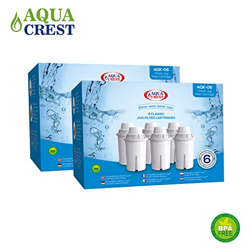 AquaCrest AQK-06 Kompatible Laica Klassische Krug Filter (12)
