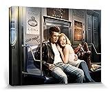 1art1 69342 J.J. Brando - James Dean Und Marilyn Monroe, U-Bahn Fahrt Poster Leinwandbild Auf Keilrahmen 80 x 60 cm