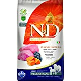 Farmina N&D Grain Free Pumpkin Lamb And Blueberry Adult Food, 2.5 Kg (Medium And Maxi)