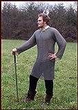 Kettenhemd Hauberk, Flachring mit Keilnieten vernietet, ID 8 mm, Gr. M von ULFBERTH voll schaukampftauglich