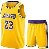 AIEEDR MaillotEnfant-Lakers#23LebronJamesMaillotdebasketCombinaisond'entraînementJersey