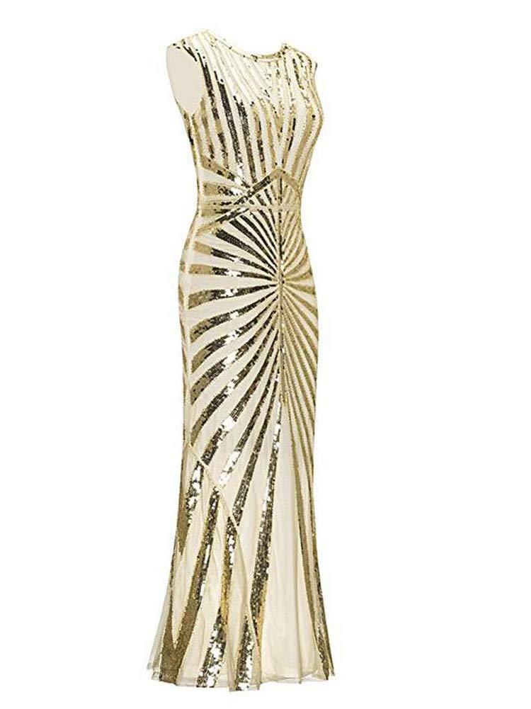 843185e62d9e7 ... Evening Gatsby Dress 1920s Sequin Mermaid Formal Long Flapper Gown  Party. ; 