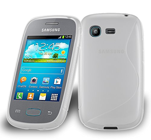 Preisvergleich Produktbild Cadorabo DE-105386 Samsung Galaxy Pocket Handyhülle aus flexiblem TPU Silikon im S-Line Design Transparent