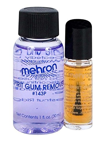 d Remover Set ~ Make-up ~ Prosthetic Glue ~ Theatrical by mehron (Halloween-make-up Spirit Gum)