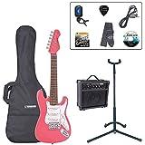 Encore E375PK Pack de Guitare électrique Junior Rose