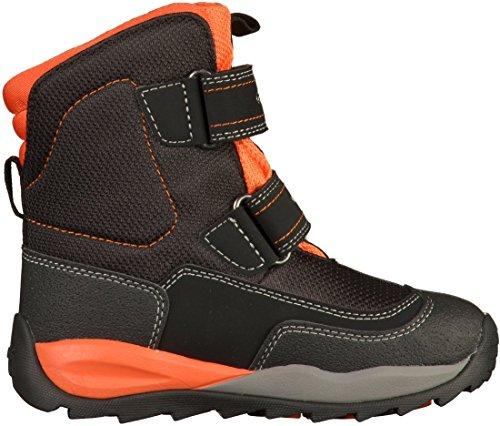 Geox J Orizont Boy Abx F, Bottes de Neige garçon Noir (Black/orange)