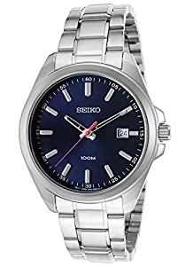 Seiko SUR059P1 - Reloj de cuarzo para hombre, correa de acero inoxidable color metalizado de Seiko