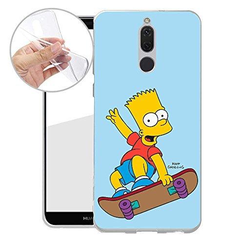Finoo TPU Handyhülle für dein Huawei Mate 10 Lite Made In Germany Hülle mit Motiv und Optimalen Schutz Silikon Tasche Case Cover Schutzhülle für Dein Huawei Mate 10 Lite - Bart Skateboard