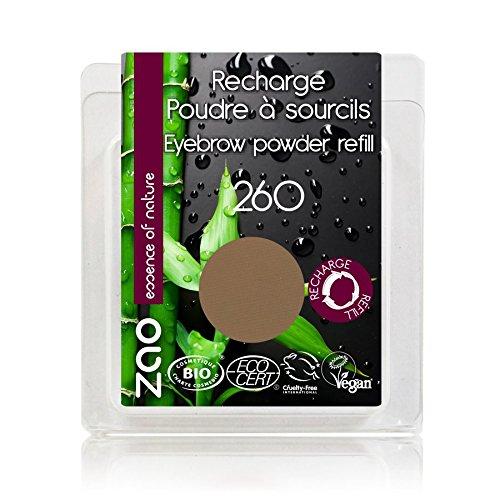 ZAO REFILL Eyebrow Powder 260 blond braun Nachfüller Augenbrauenpuder (bio, vegan) 111260