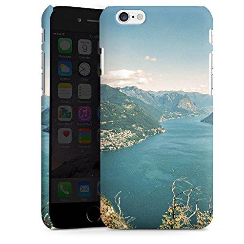 Apple iPhone 8 Plus Silikon Hülle Case Schutzhülle Landschaft Fluss Berge Premium Case matt