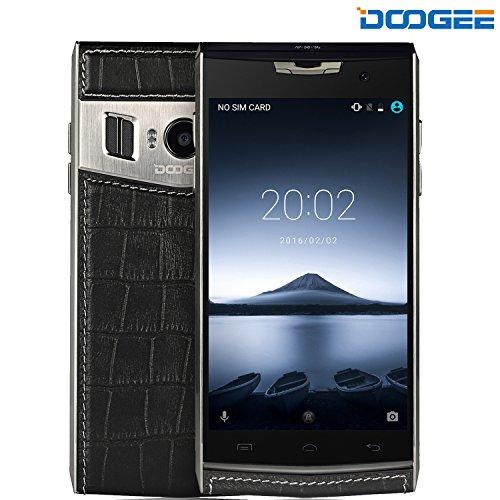 Smartphone Dual SIM, DOOGEE T3 Android 6.0 Doppio Schermo Cellulari con 5MP + 13 MP Fotocamera Digitale - WCDMA 3G 4G / LTE FDD 3200 mAh Telefono - 3GB di RAM + 32GB ROM - Nero