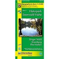Naturpark Soonwald-Nahe /Binger Wald, Stromberg, Rheinböllen (WR): Naturparkkarte 1:25000 mit Wander- und Radwanderwegen…