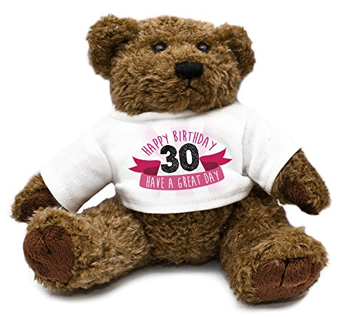 Happy 30th Birthday Teddy Bear Pink