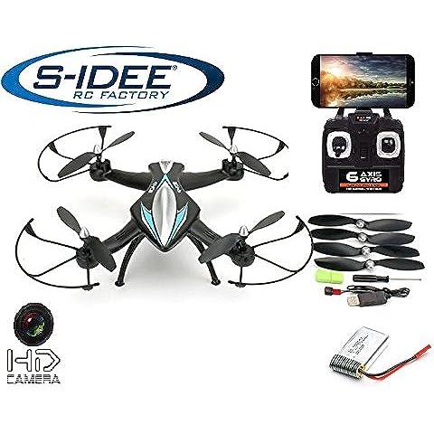 S de Idea® 01114| Quadcopter 4.5canales, 2,4GHz cuadricóptero RC helicóptero teledirigido/helicóptero/Heli con técnica de giroscopio + 2,4GHz Tecnología. Para Interior Y Exterior. Con Gyro integrado y 2.4GHz control. Volar.