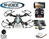 s-idee® 01114 | Quadcopter 4.5 Kanal 2,4 Ghz Quadrocopter RC ferngesteuerter Hubschrauber/Helikopter/Heli mit GYROSCOPE-TECHNIK + 2,4Ghz TECHNOLOGIE!!! für INNEN und AUSSEN brandneu mit eingebautem GYRO und 2.4 GHz Steuerung! FLUGFERTIG!