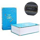 Dictionary Book Safe box, Portable Travel Secret Book Storage box con serratura a combinazione Stars