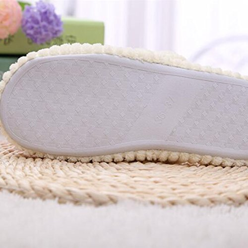 Pantofole Antiscivolo Beige Da Donna, Morbide Pantofole Di Cotone