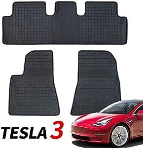 Topfit Tesla Model 3 Fussmatten Fußmatten Gummimatte Allwetter Bodenschutz Matten Zubehör Für Model 3 2017 2020 Auto