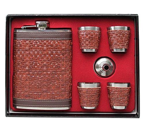 Original GMMH Flachmann Set LN 35-26 Taschenflasche Edelstahl mit Schraubverschl?uß Taschenflachmann Flask 240 ml